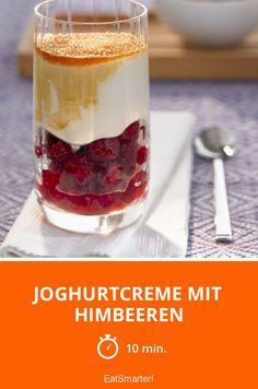 Joghurtcreme mit Himbeeren - smarter - Zeit: 10 Min. | eatsmarter.de