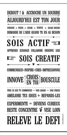 Tableau Déco de motivation - impression Bio sur toile 100% coton - fait main en France:
