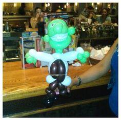Shrek balloon character #shrek #movie #balloon #sculpture #twist #art #character