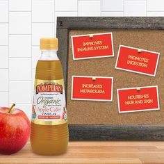 """Pompeian's unpasteurized Organic Apple Cider Vinegar contains the """"mother,"""" a naturally occurring protein enzyme known for health benefits that can be taken daily with teas or juices!"""