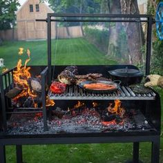 Outdoor Bbq Kitchen, Pizza Oven Outdoor, Outdoor Kitchen Design, Outdoor Cooking, Asado Grill, Bbq Grill, Wood Grill, Backyard Barbeque, Brick Bbq