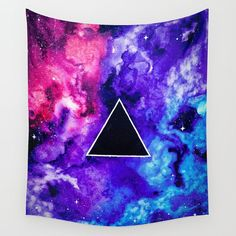 Pink Floyd Tapestry, Space Tapestry,  Galaxy Tapestry, Dark Side of the Moon tapestry, space art, pink floyd art,  by TheMindBlossom