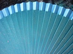 Hand Fan Blue and Silver