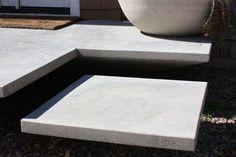 Podesty betonowe na tarasie