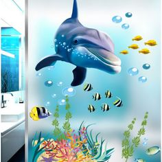 Cheap fish nerves, Buy Quality stickers fish directly from China fish vacuum packing machine Suppliers: Underwater Sea Fish Shark Bubble Wall Stickers For Kids Rooms Ocean Cartoon Wall Decals Window Bathroom bedroom poster mural Wall Stickers Ocean, Bathroom Wall Stickers, Wall Stickers Wallpaper, Kids Room Wall Stickers, Wall Decals For Bedroom, Mural Wall Art, Wall Stickers Home Decor, Wall Stickers Murals, Window Stickers