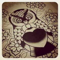owl babushka tattoo :)