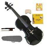 GRACE 18 Size Black Acoustic Violin with Case and BowRosin2 Sets Strings2 BridgesTuner *** Click on the image for additional details.Note:It is affiliate link to Amazon.
