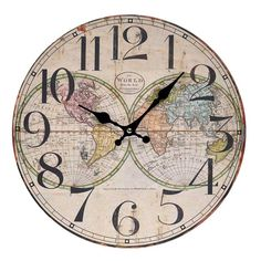 Ceas de perete Globus Wall Clock Painting, San Pablo, Metal Birds, Stone, Retro, Antiques, Tan Solo, Clocks, Vintage