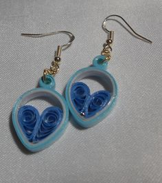 "Small 1"" Baby Blue Cadet Blue Teardrop Heart 2 K"