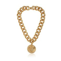 Versace Medusa Gold Plated Metal Necklace ($835) ❤ liked on Polyvore featuring jewelry, necklaces, accessories, women, gold plated necklace, gold plated jewelry, versace, versace jewelry and gold plated jewellery