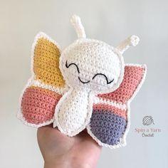 Crochet white butterfly