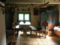 Råbystugan (old farm house from 1776-1777)  Torekällberget outdoor museum, Södertälje, Sweden.