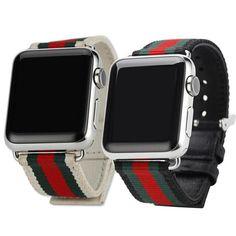 Canvas iWatch Watch Band Strap Buckle Armband Uhren Band Apple Watch 38mm/42mm   eBay
