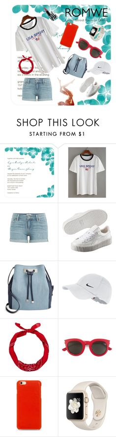 """""""Romwe"""" by armella ❤ liked on Polyvore featuring Paige Denim, Puma, INC International Concepts, NIKE, New Look, Yves Saint Laurent, Knomo and MAC Cosmetics"""