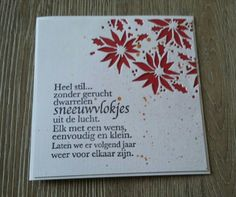 Mooie teksten December Wishes, New Year Wishes, December Daily, Merry Christmas And Happy New Year, Christmas Diy, Christmas Cards, Xmas, Paint Colors For Living Room, Paper Flowers