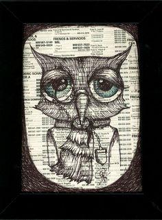 buho, owl by karen brunat