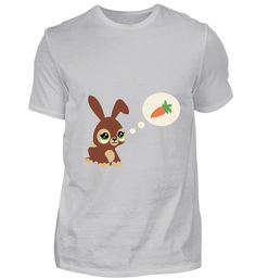 Süßer Hase mit Möhre T-Shirt T-Shirt Mens Tops, Fashion, Cute Bunny, Cotton, Moda, Fashion Styles, Fasion