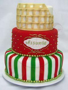 Tremendous 43 Best Italia Cakes Images Themed Cakes Italian Party Italian Personalised Birthday Cards Beptaeletsinfo