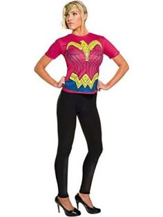 Adult Batman V Superman Dawn of Justice Adult Wonder Woman Top Costume I want to be wonder woman for halloween she is incredible! #DCcomics #wonderwoman #halloween #halloween2017 #superhero