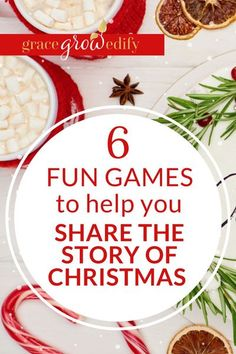 6 Fun Games to Help You Share the Story of Christmas - Perfect for all ages, family gatherings, and group settings too! #reasonfortheseason #biblegames #christmas #christmasgames Christmas Party Games For Groups, Holiday Games, Christmas Activities, Christmas Traditions, Family Activities, Holiday Ideas, Christmas Bible, A Christmas Story, Christmas Fun
