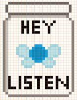 Navi in a Bottle Cross Stitch by *moonprincessluna on deviantART
