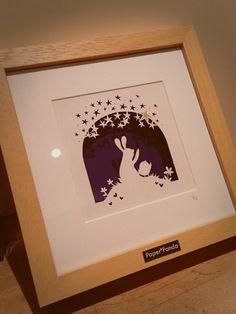 """Image of """"The Star"""" Original Paper Panda Papercut"""