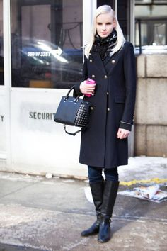 street style: New York Fashion Week Fall Street Style Looks, Street Style Women, Street Chic, Street Snap, Autumn Winter Fashion, Winter Chic, Winter Style, Trendy Fashion, Vintage Fashion