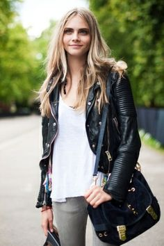 Burberry leather jacket