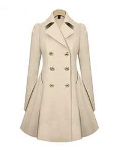 Versatile Notched Lapel Double Breasted Trench Coats