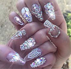 So these appeared today in my timehop! These were the first EVER Bling Nails I did like 3 years ago