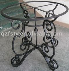 Looking for wrought iron table base ? Here you can find the latest products in different kinds of wrought iron table base. We Provide 20 for you about wrought iron table base- page 1 Wrought Iron Decor, Wrought Iron Gates, Iron Furniture, Steel Furniture, Iron Table, Iron Art, Metal Chairs, Decoration, Google