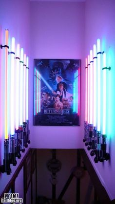 MAN, that's a beautiful lightsaber display.