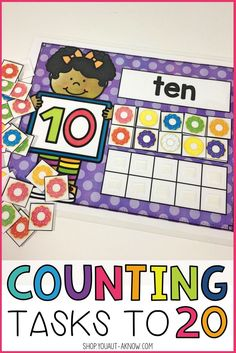 Counting tasks are great for special education work stations. These tasks have students practice counting objects to There are a variety of objects to count and keep this task fresh throughout the year. Counting Activities, Hands On Activities, Slot Machine, Learning Numbers, Special Education Classroom, Preschool Printables, Work Stations, Math Stations, Elementary Math