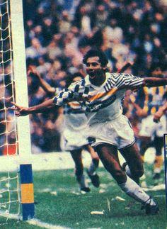 Boca Juniors Campeón Apertura 1992 - Cabañas festejando