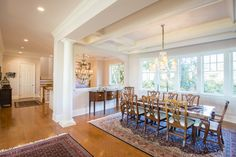 The dining room at 20 Ocean Course Drive on #Kiawah Island (home available for sale as of 10.05.16) #LuxuryRealEstate
