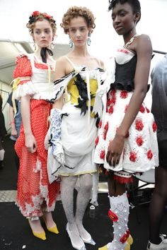 Meadham Kirchhoff cherubs backstage