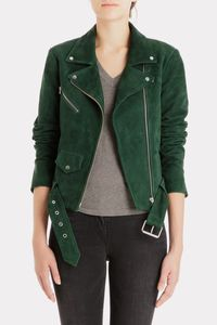 The Jayne Suede Jacket from Veda is the ultimate statement jacket of the season. Crafted in stunning emerald green from sturdy yet buttery suede, this jacket dresses up any look. The classic moto silhouette makes it a timeless investment piece.<ul><li>Materials/Measurements:</li><li>Fabric: Suede leather.</li><li>Dry clean.</li><li>Length: 21.5in / 54.5cm, from shoulder</li><li>Slightly oversized fit.</li><li>Measurements from size S</li></ul>