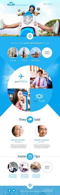 Unique Web Design on the Internet, KLM #webdesign #webdevelopment #website