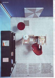 "Top view of Minipipistrello, seen on ""Living"" magazine"
