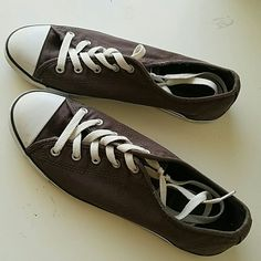 Canvas Converse Low tops Gently Loved dark grey Converse in very good condition. Women's size 9. Converse Shoes Sneakers