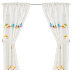 BARNSLIG RINGDANS Curtain with tie-back - IKEA ~ Maybe I'll get THIS for kiddo's room, instead.