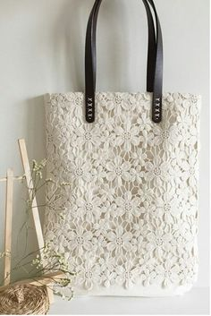 Handmade shabby chic cotton wedding bag lace bag lace tote vintage style ivory off white make to order Crochet Patterns Vintage Handmade Shabby Chic Wedding from ShabbyChicLinenC on Etsy sac crochet blanc: I love this look! Ravelry: Victoria pattern by Be My Bags, Purses And Bags, Coin Purses, Sacs Tote Bags, Lace Bag, Fabric Bags, Lace Fabric, Custom Bags, Cotton Lace