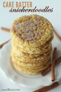 Delicious AND easy Cake Batter Snickerdoodles