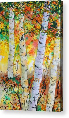 Birch Party Acrylic Print by Dee Carpenter.  All acrylic prints are professionally printed, packaged, and shipped within 3 - 4 business days and delivered ready-to-hang on your wall. Choose from multiple sizes and mounting options.