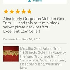 I love it when people are happy with their purchases. I want to see that hat!  #happy #customer #customerservice #etsy #etsyshop #etsyseller #etsylove #fabric #sewing #sew #handmade #shop #Fabricshop #seamstress #sewersofinstagram #sewcialists #trim #lace #fabrictrim #fabriclove #accessories #sewingproject #craft #fabricinabox