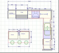 Small Kitchen Floor Plan Plans Storage Arrangement