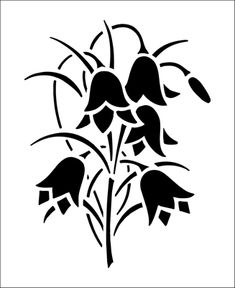 Flower stencils from The Stencil Library. Stencil catalogue quick view page 12.
