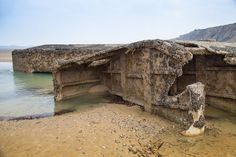 Discover more images of the Mulberry Harbour at Arromanches in Normandy - http://lorkin.co/mulberry-harbour-arromanches-photos-d-day-landing-beaches/