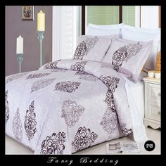 GoLinens Gizelle Duvet Cover Set with Reversible Pillow Shams – Fine Print Pattern, Combed Cotton – Durable Comforter Cover - 8 Piece, Queen Luxury Comforter Sets, Comforter Cover, Queen Comforter Sets, Duvet Bedding, Duvet Sets, Queen Duvet, Pottery Barn, Lilac Bedroom, Master Bedroom