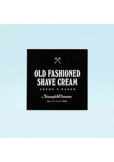 Triumph & Disaster Old Fashion Shave Cream + Badger Hair Shave Brush - Triumph & Disaster - Onceit